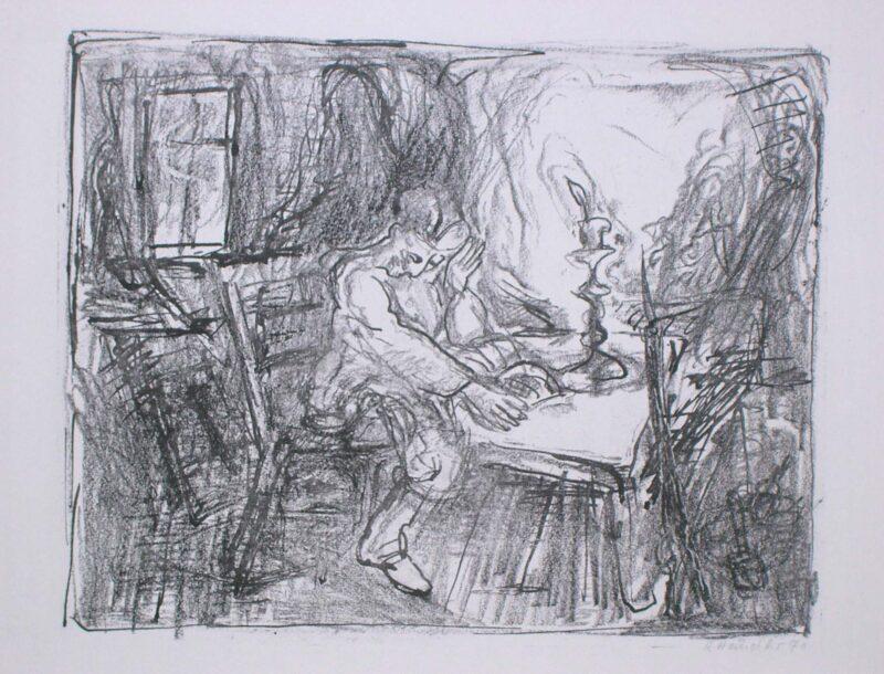 """Abbildung 1: """"zu Isaak Babel """"Reiterarmee III"""""""" von Rolf Händler"""