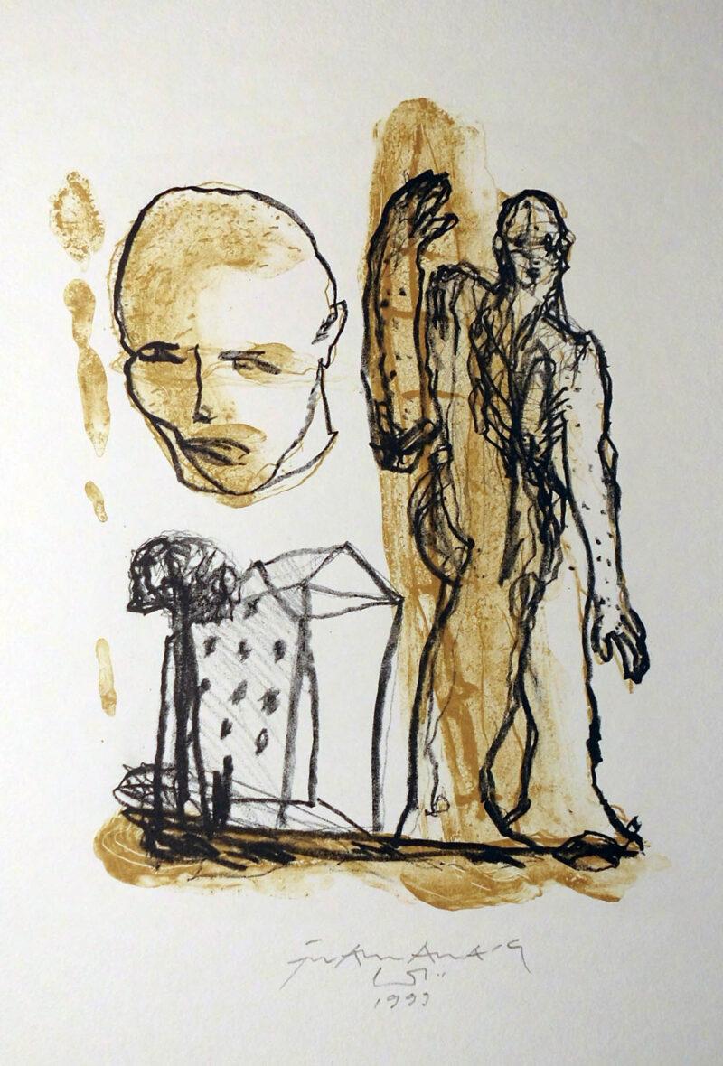 """Abbildung 1: """"Mensch + Haus"""" von Franz-Anatol Wyss"""