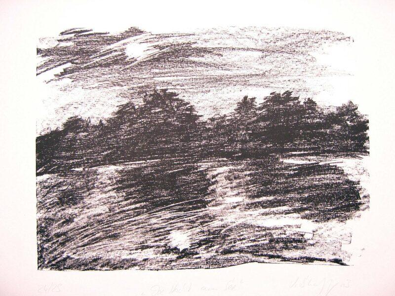 """Abbildung 1: """"Nacht am See II"""" von Volker Scharnefsky"""