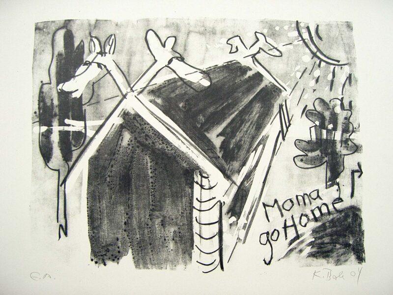 "Abbildung 1: ""moma go home"" von Peter Dettmann"