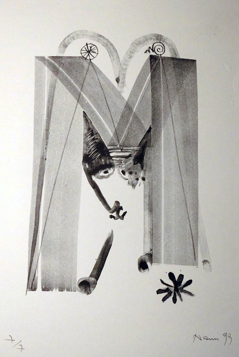 """Abbildung 1: """"Der M-Wolf"""" von Peter Dettmann"""
