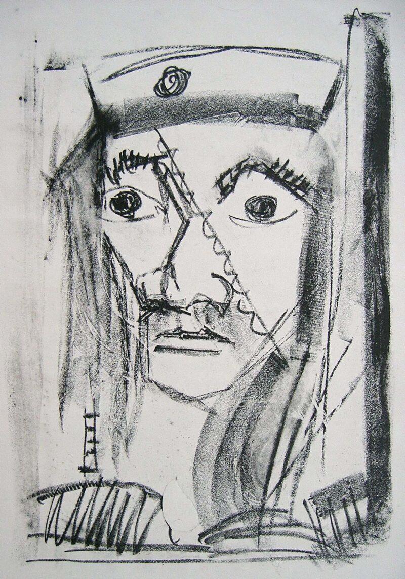"""Abbildung von """"Kopf mit Mütze II"""""""