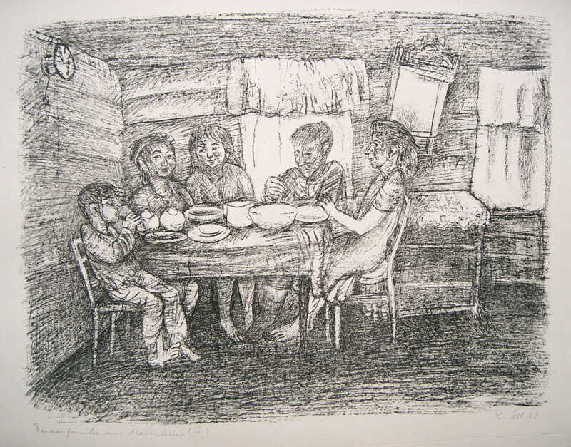 """Abbildung 1: """"Bauernfamilie aus Marenkino III"""" von Lothar Sell"""