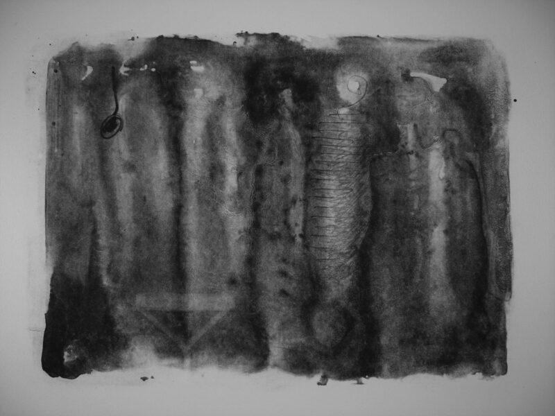 """Abbildung 1: """"Zeichen im Wasser"""" von Peter Dettmann"""