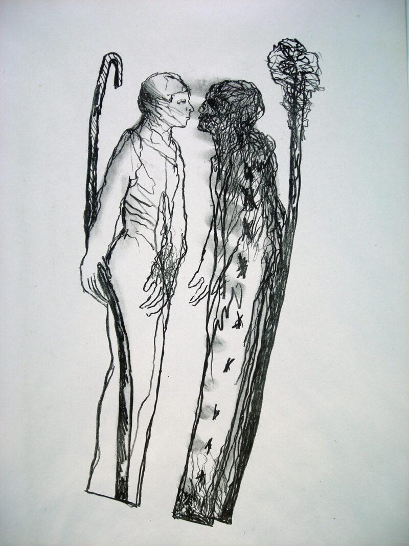 """Abbildung 1: """"Gespräch"""" von Franz-Anatol Wyss"""