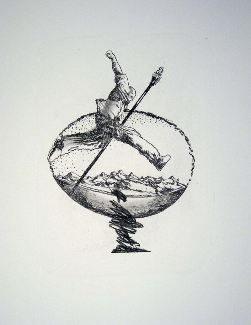 """Abbildung 1: """"Der Mensch bewegt sich (5)"""" von Franz-Anatol Wyss"""