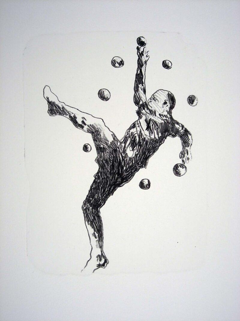"""Abbildung 1: """"Der Mensch bewegt sich (4)"""" von Franz-Anatol Wyss"""