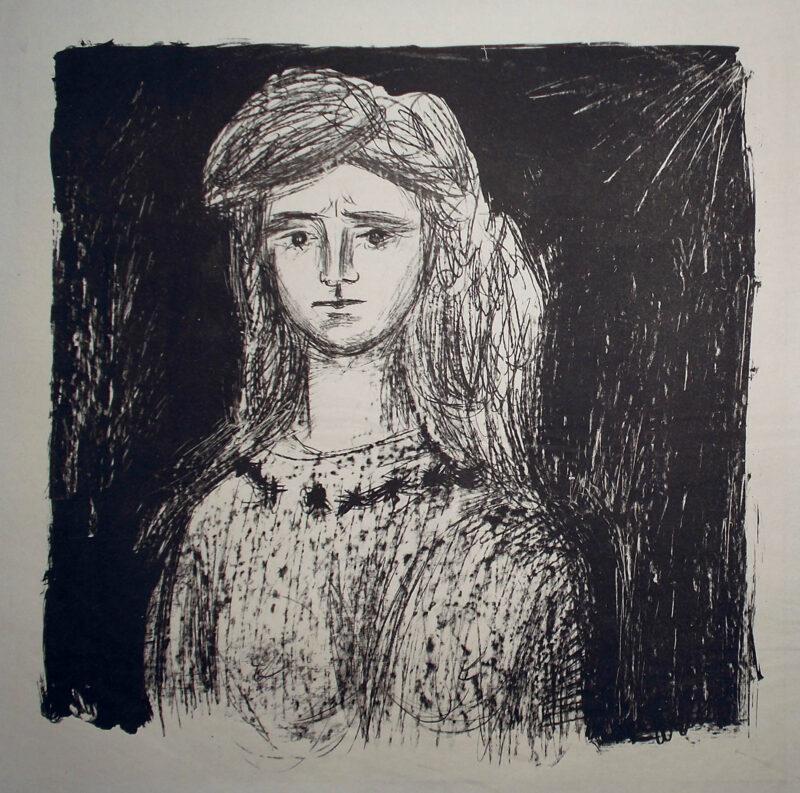 """Abbildung von """"Mädchen mit langem Haar"""""""
