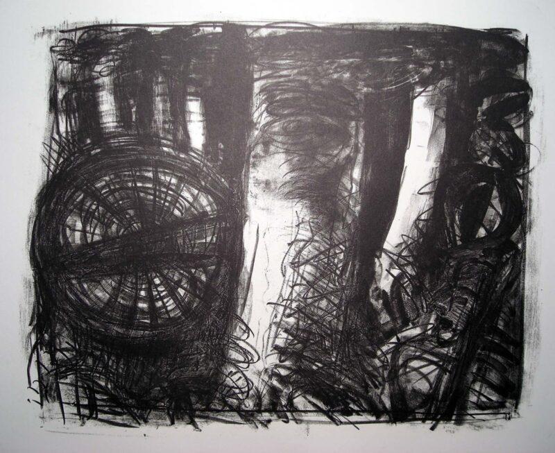 """Abbildung 1: """"Wald mit Wesen"""" von Ellen Fuhr"""