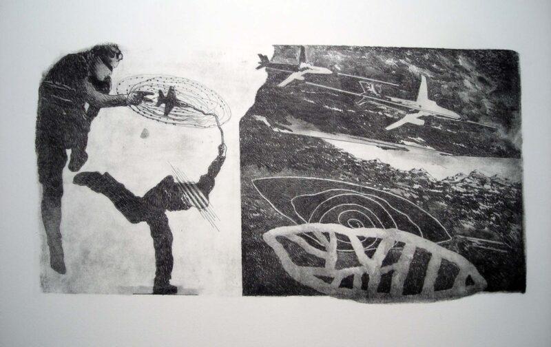 """Abbildung 1: """"(Luftkrieg)"""" von Franz-Anatol Wyss"""