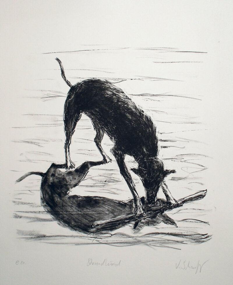 """Abbildung 1: """"Strandhund"""" von Volker Scharnefsky"""