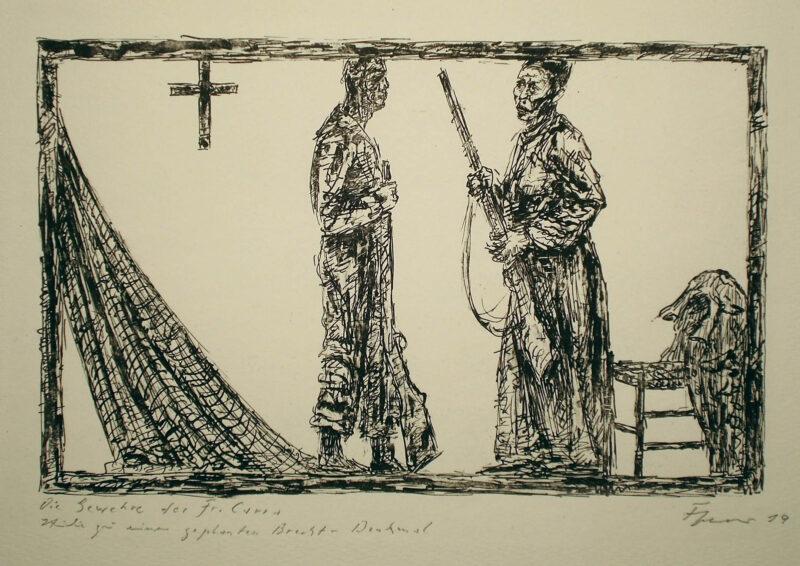 """Abbildung 1: """"Die Gewehre der Frau Carrar"""" von Fritz Cremer"""