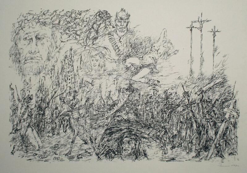 """Abbildung 1: """"Studie zu Alexander Bloks Poem: Die Zwölf"""" von Fritz Cremer"""