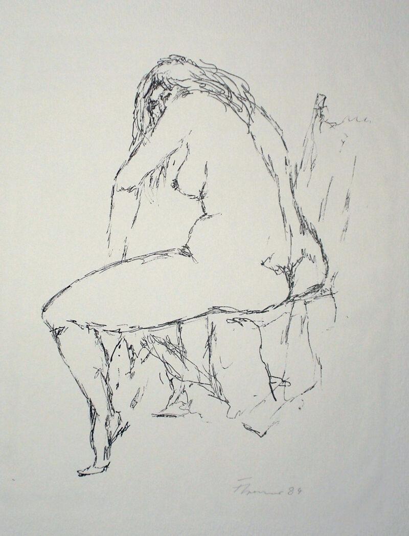 """Abbildung von """"Sitzender weiblicher Akt"""""""