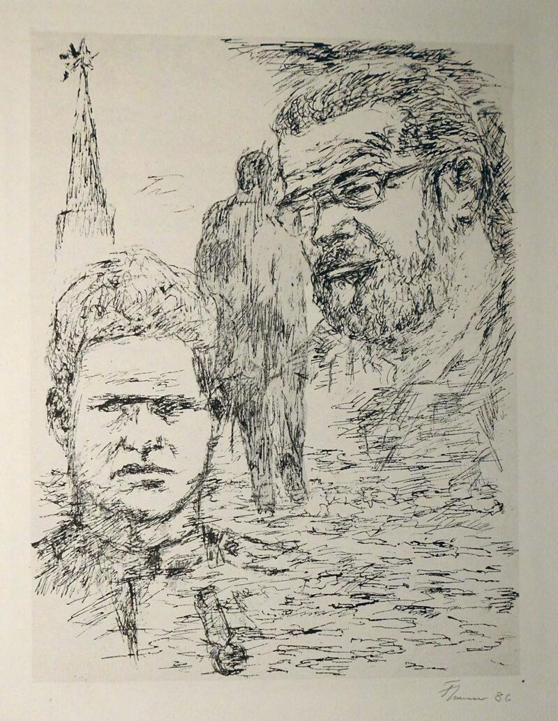 """Abbildung 1: """"Zu Konrad Wolf: Porträtstudie"""" von Fritz Cremer"""