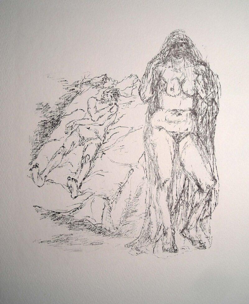 """Abbildung 1: """"Alt-Träume, Blatt 6"""" von Fritz Cremer"""