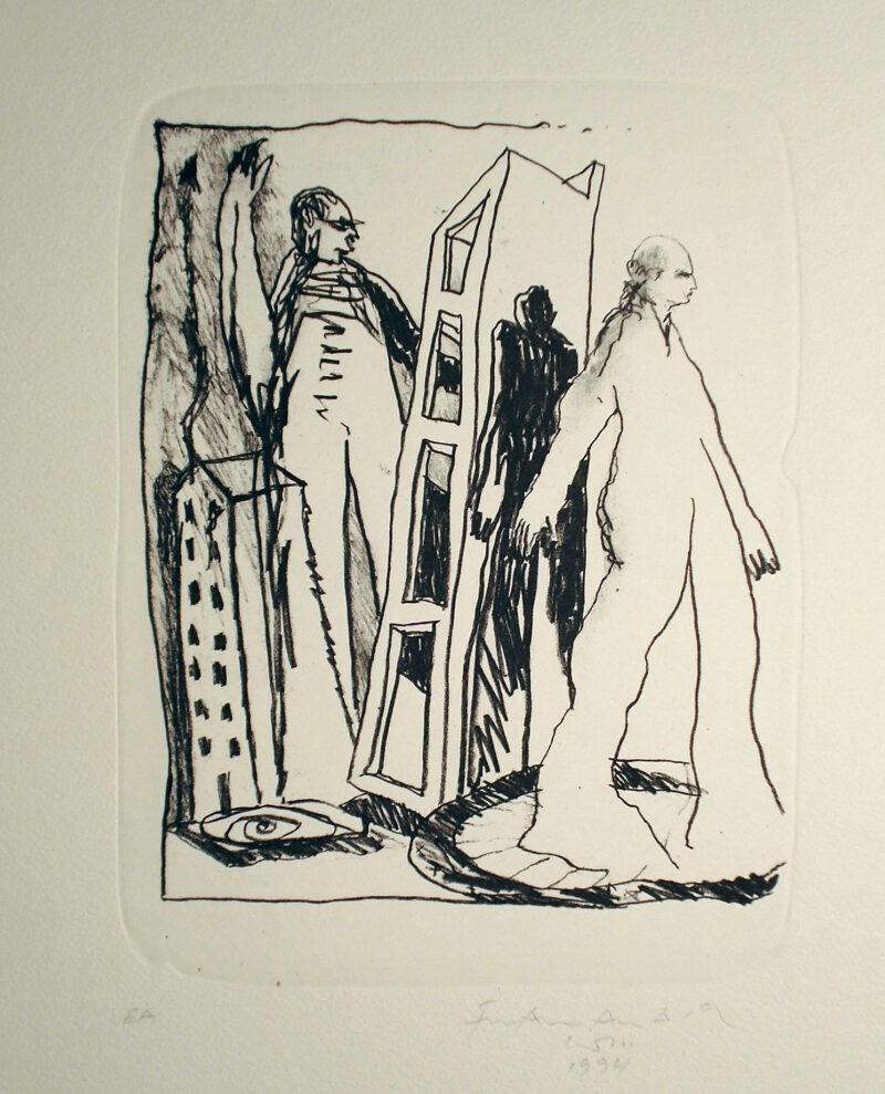 """Abbildung 1: """"Stadtleben"""" von Franz-Anatol Wyss"""