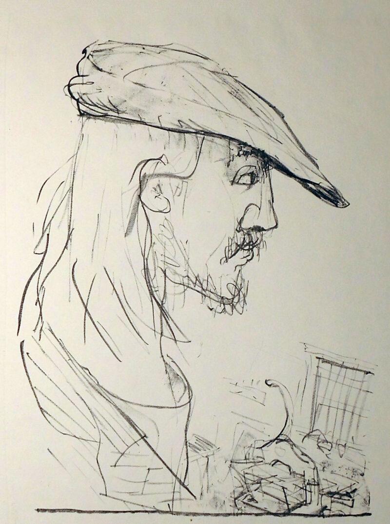 "Abbildung 1: ""Porträt P. D."" von René Rehfeldt"