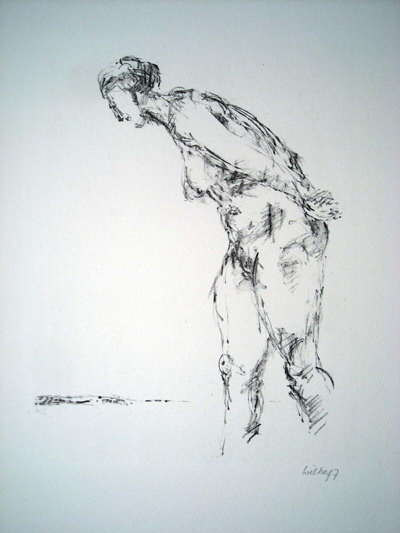 """Abbildung 1: """"Stehender Akt, vorgebeugt"""" von Bernt Wilke"""