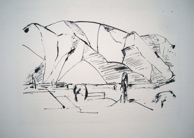 """Abbildung 1: """"Landschaft im Kaukasus"""" von Berndt Wilde"""