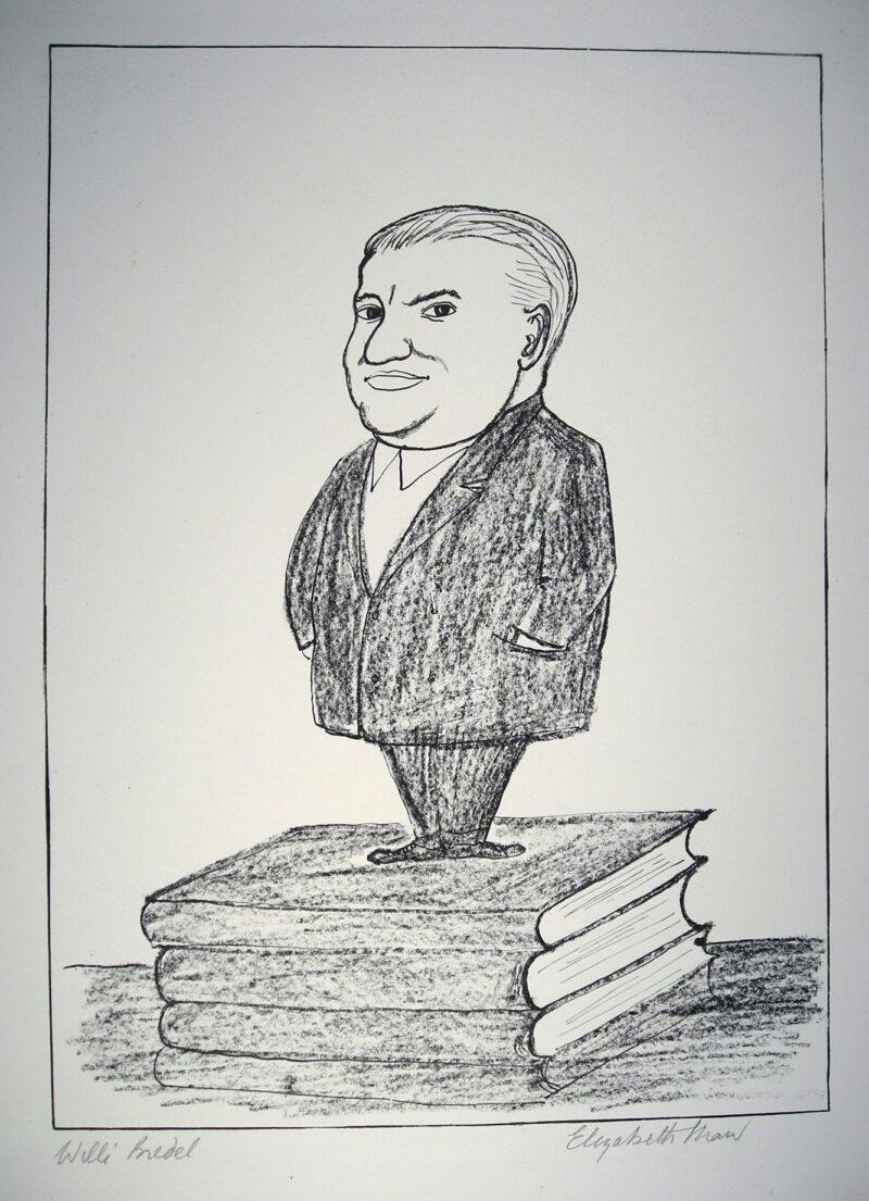 """Abbildung 1: """"Porträt Willi Bredel"""" von Elisabeth Shaw"""