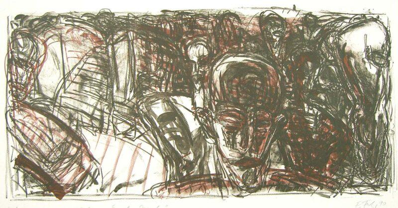 """Abbildung 1: """"zu Rilke """"Ernste Stunde"""" II"""" von Ellen Fuhr"""