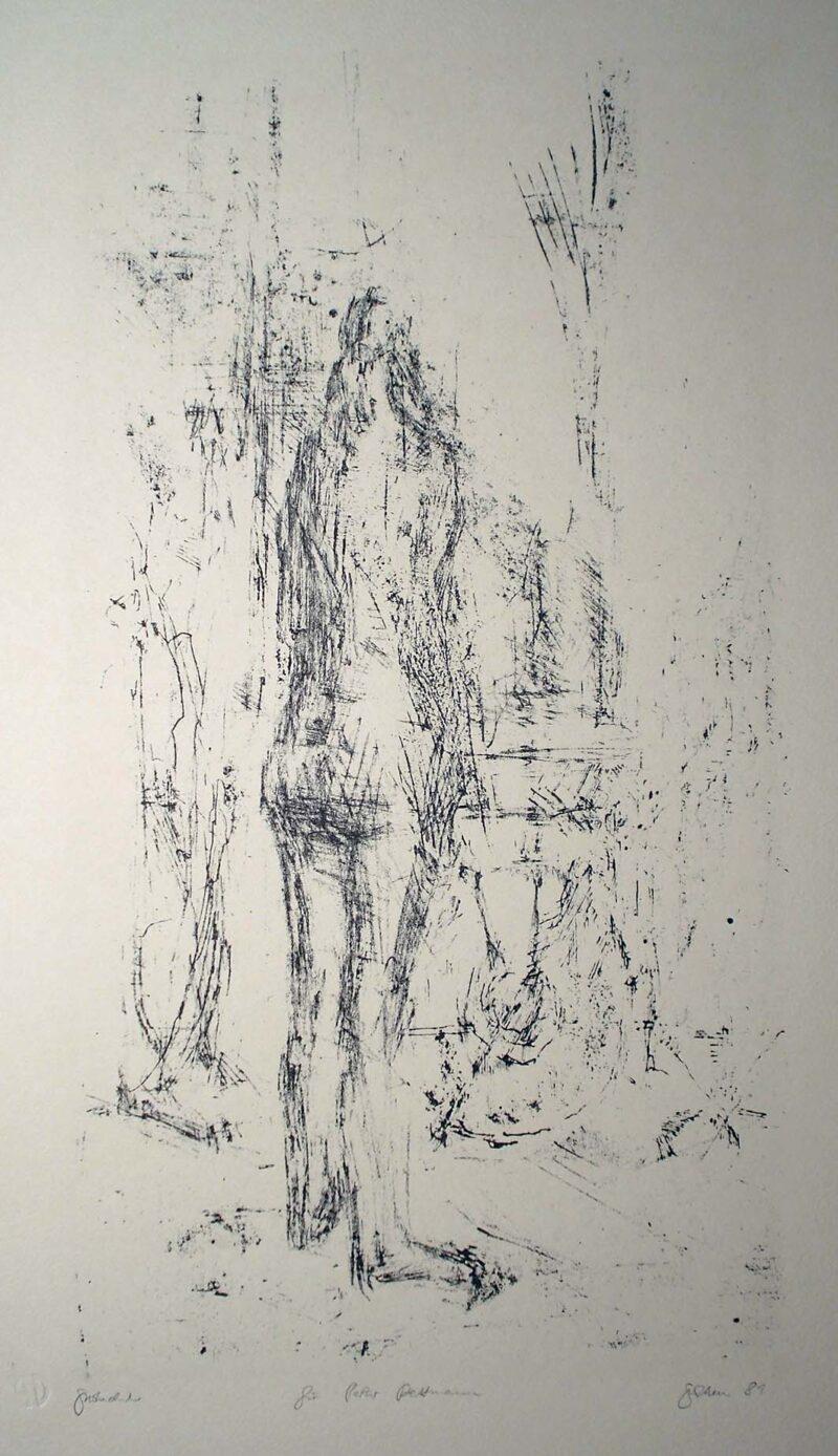 """Abbildung von """"Modell im Atelier Pariser Platz"""""""
