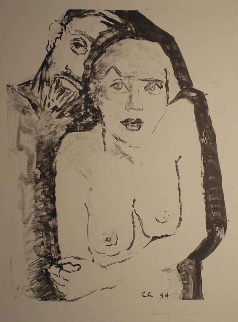 """Abbildung 1: """"Mädchen und Mann"""" von Christa Cremer"""