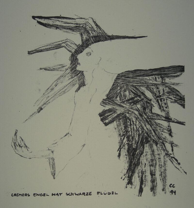 """Abbildung 1: """"Cremers Engel hat schwarze Flügel (2.Fassung)"""" von Christa Cremer"""