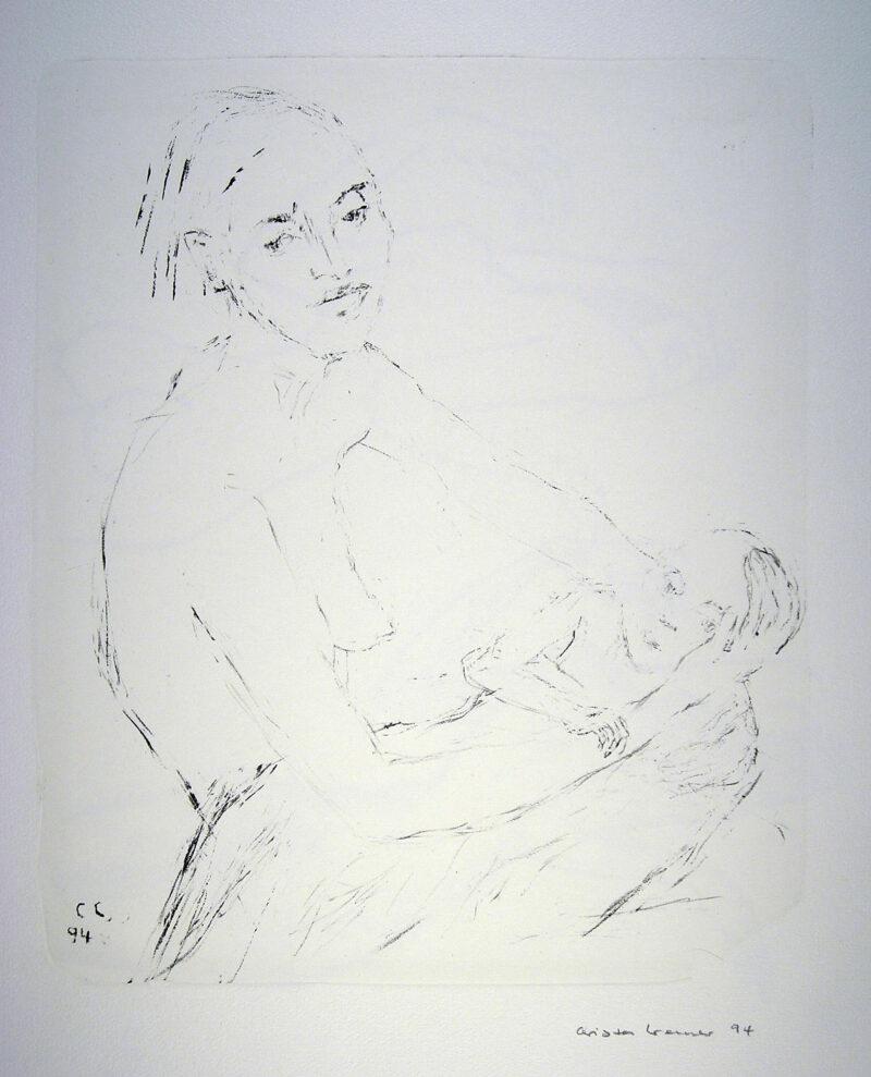 """Abbildung 1: """"(Frau mit Kind)"""" von Christa Cremer"""