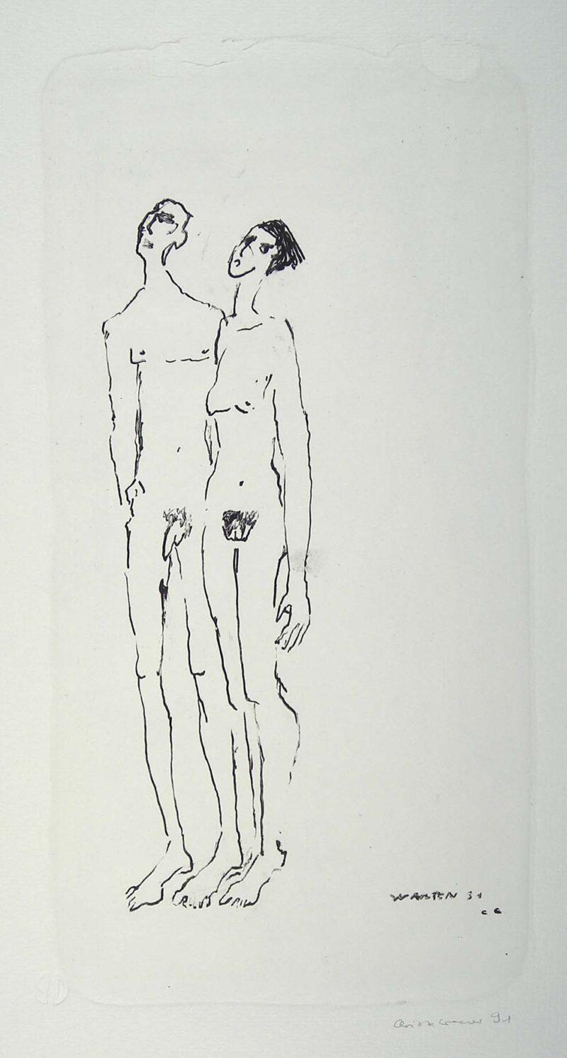"""Abbildung 1: """"Warten 91"""" von Christa Cremer"""