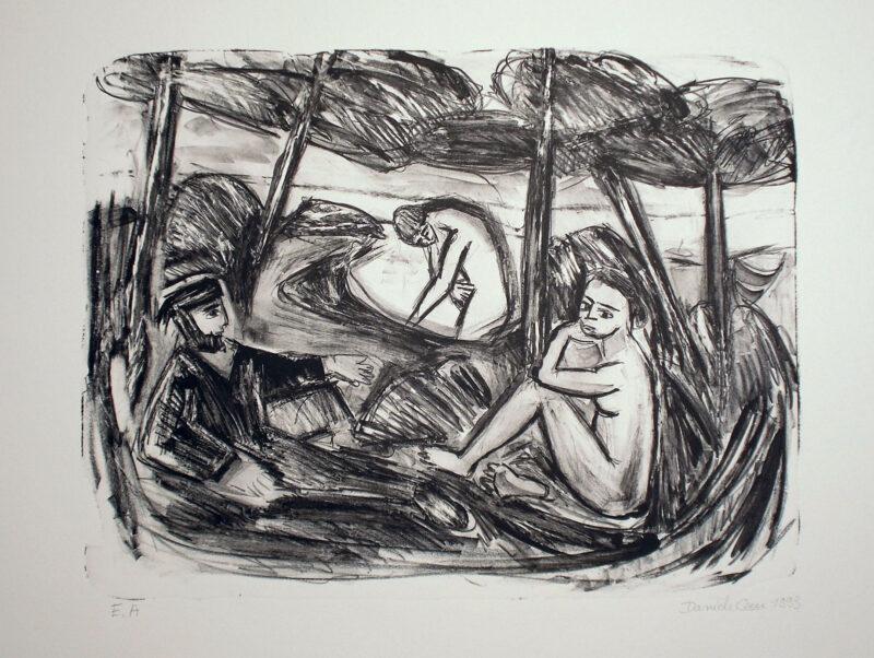 """Abbildung von """"Hommage á Manet (Le déjeuner sur l'herbe)"""""""