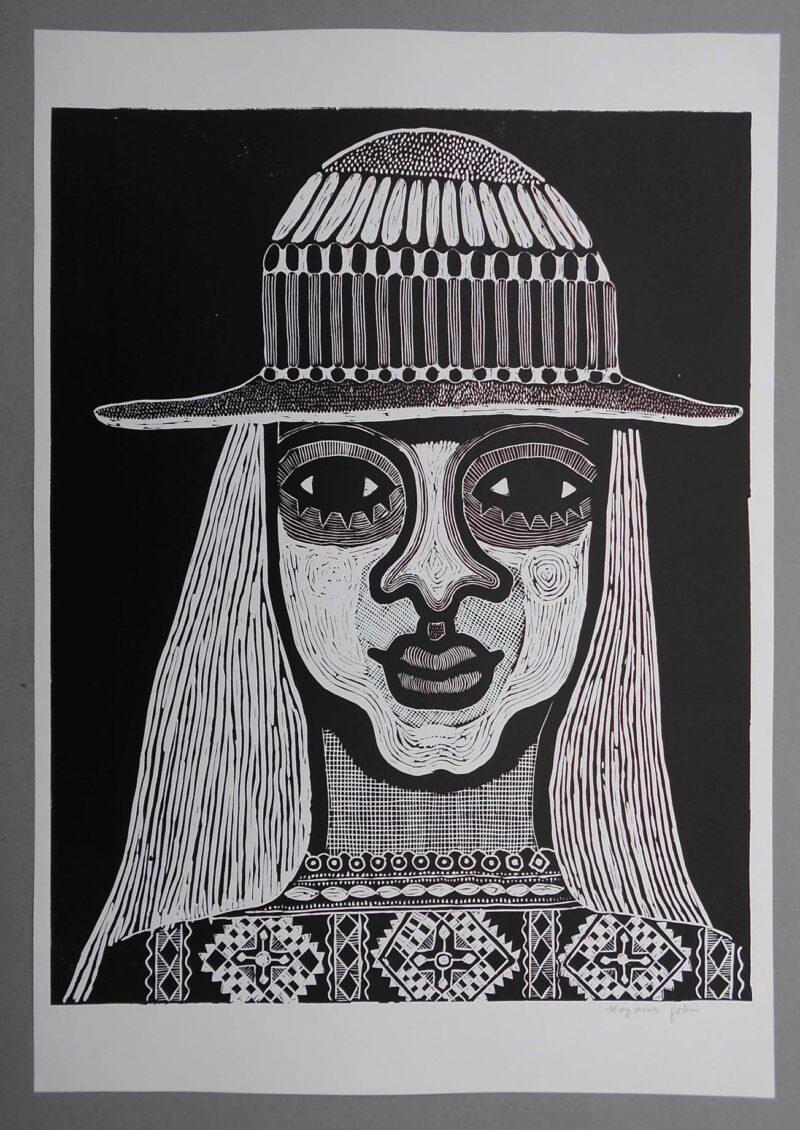 """Abbildung 1: """"Mädchenkopf IV"""" von Margarethe Godon"""