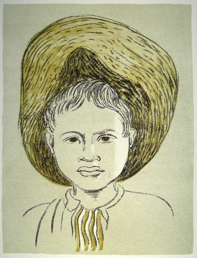 """Abbildung von """"Kind mit Stohhut"""""""