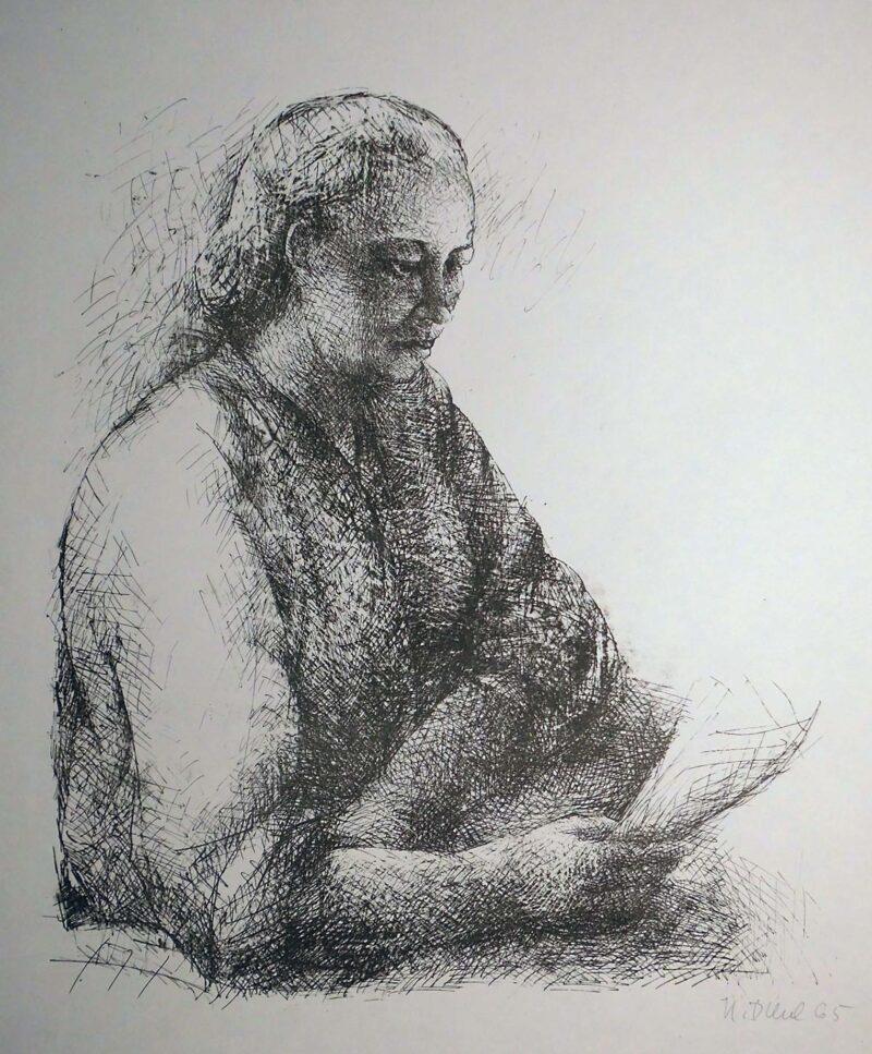 """Abbildung 1: """"Frau Hadasch"""" von Helmut Diehl"""