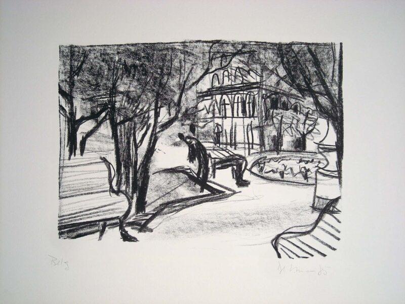 """Abbildung von """"Park an der Eremitage in Leningrad"""""""
