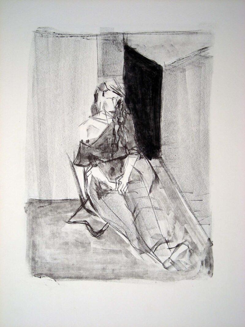 """Abbildung 1: """"Sitzende im Atelier"""" von Peter Dettmann"""
