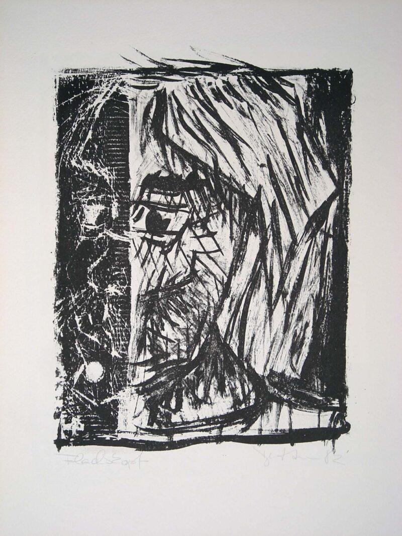 """Abbildung 1: """"Selbst als Flachskopf"""" von Peter Dettmann"""