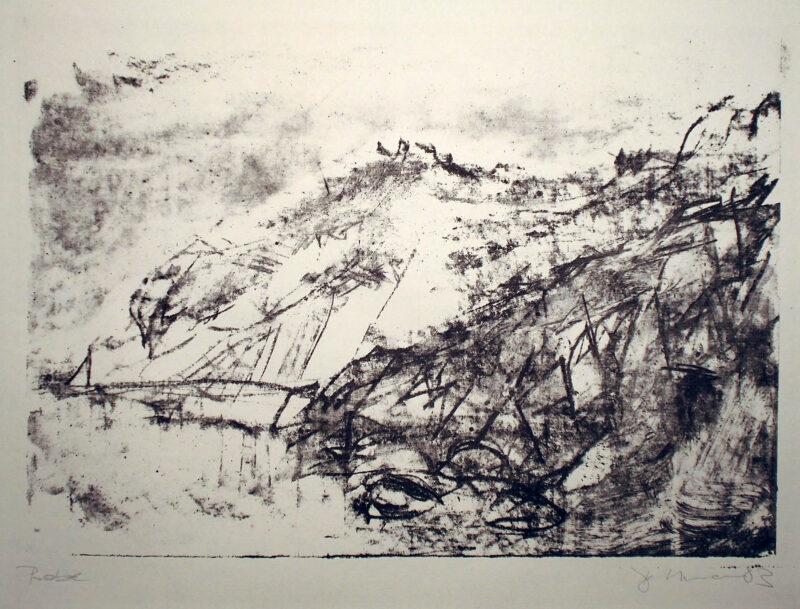 """Abbildung 1: """"Steilküste Hiddensee mit Steindamm"""" von Peter Dettmann"""