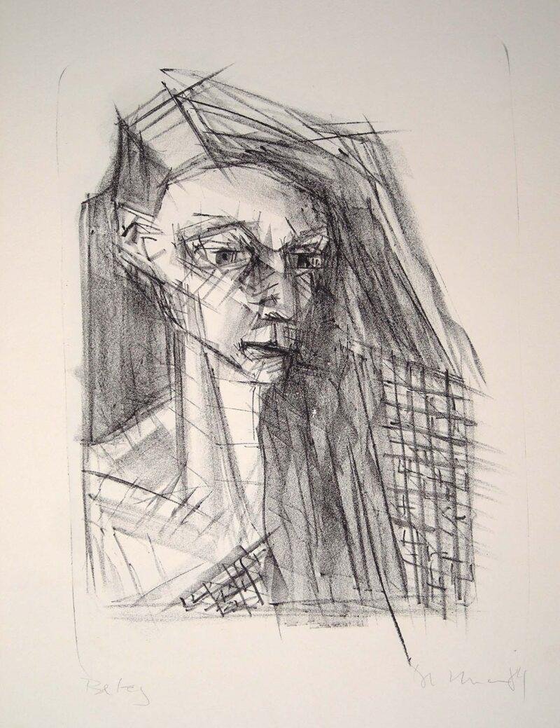 """Abbildung 1: """"Frauenkopf"""" von Peter Dettmann"""