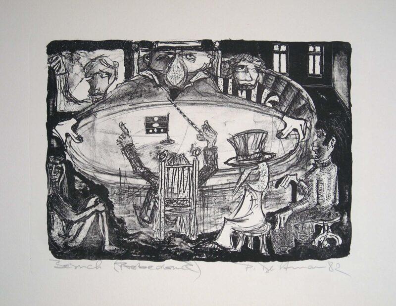 """Abbildung 1: """"Besuch (Weltgericht)"""" von Peter Dettmann"""