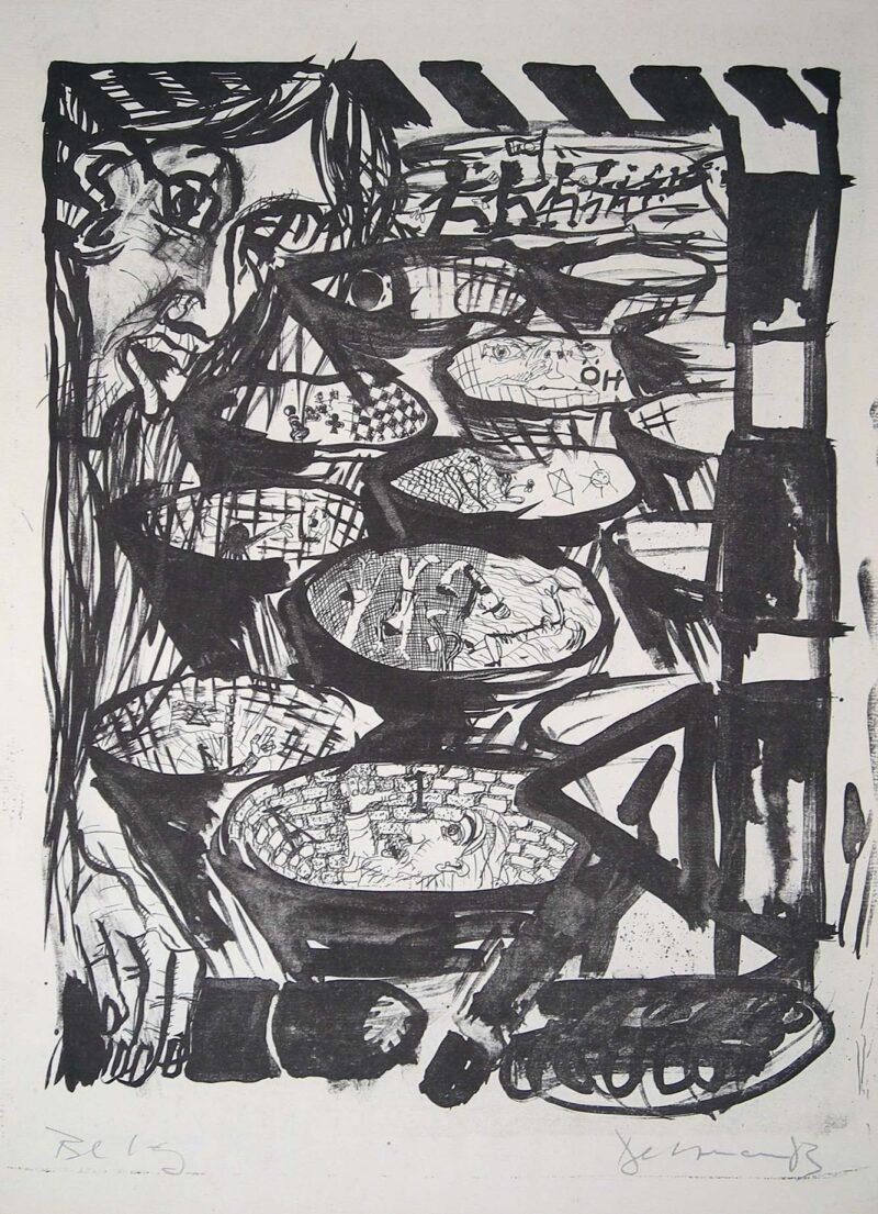 """Abbildung 1: """"Selbst im Granattrichterfeld"""" von Peter Dettmann"""