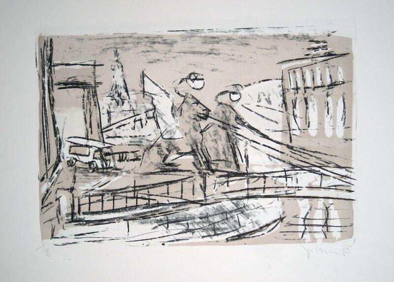"""Abbildung von """"Greifenbrücke in Leningrad"""""""
