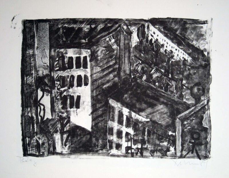 """Abbildung 1: """"Sonnenburger Straße II"""" von Peter Dettmann"""