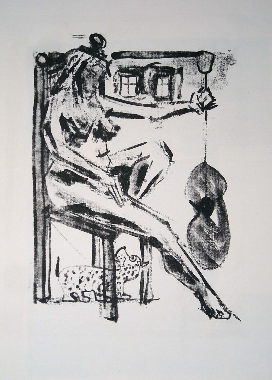 """Abbildung von """"Sitzende II"""""""