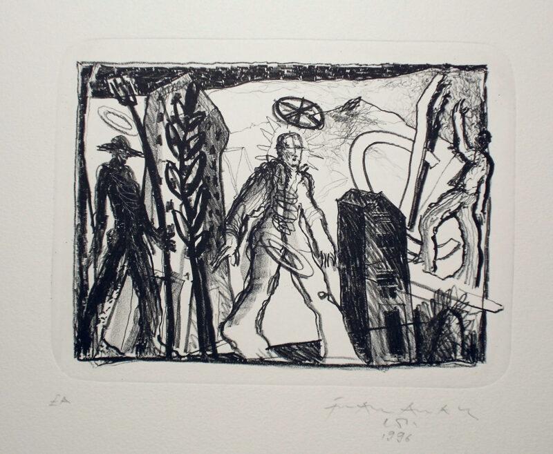 """Abbildung 1: """"Wanderer"""" von Franz-Anatol Wyss"""