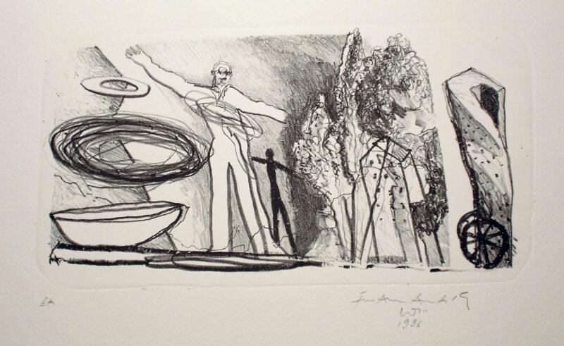 """Abbildung 1: """"Landschaft mit Turner"""" von Franz-Anatol Wyss"""
