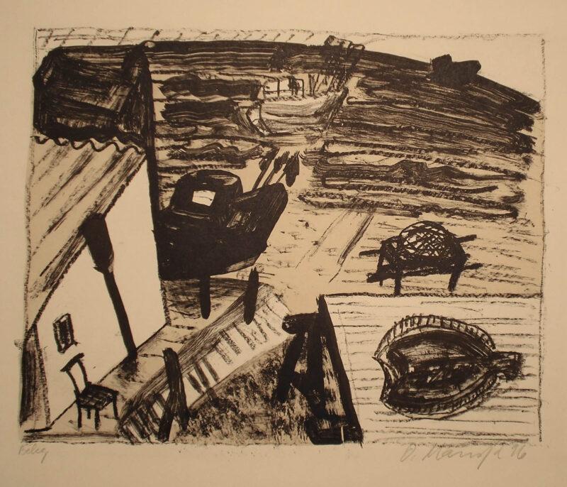 """Abbildung 1: """"Fischerstrand + Flunder I"""" von Oskar Manigk"""