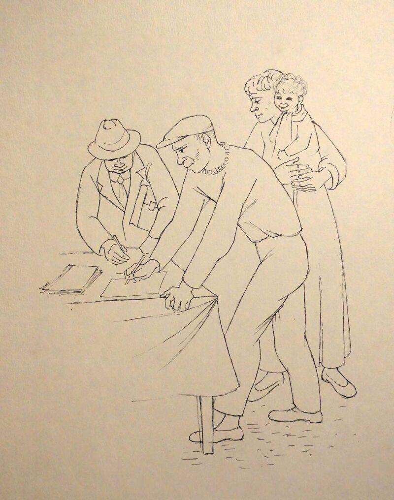 """Abbildung 1: """"Unterschriftensammlung"""" von Fritz Duda"""