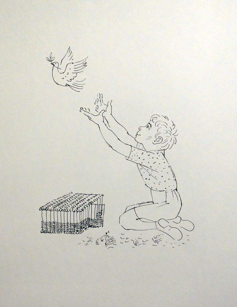 """Abbildung 1: """"Die Friedenstaube"""" von Fritz Duda"""
